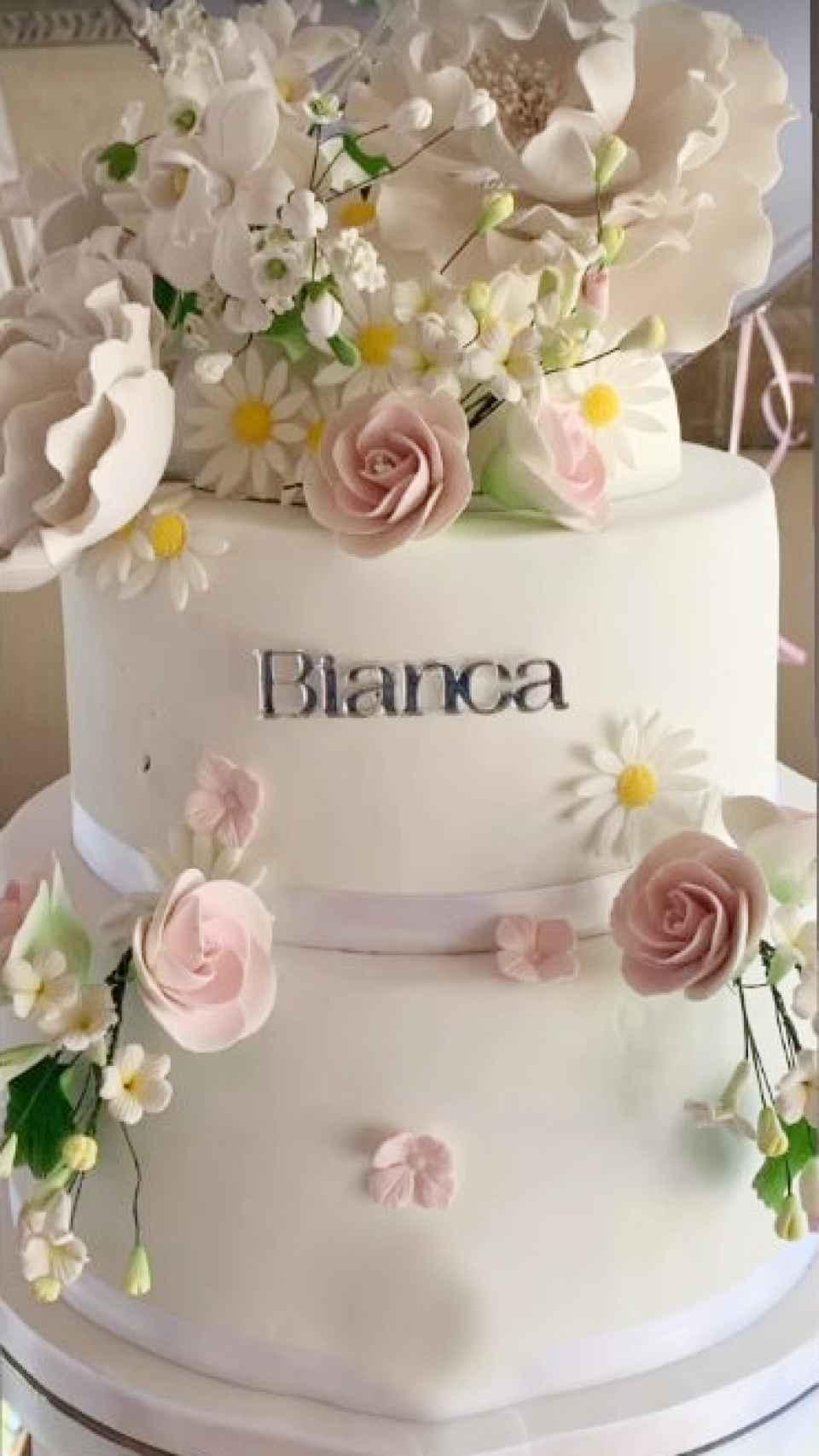 Vanesa Pinedo creó la tarta de la comunión de Bianca Ponce Cuevas.