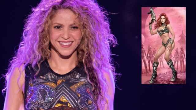 La cantante Shakira en montaje de JALEOS