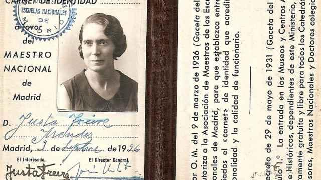 Carnet de maestra de la pedagoga zamorana Justa Freire