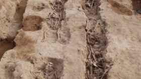 Imagen de la fosa catalana de Solaràs, donde ha sido encontrado el soldado alicantino.