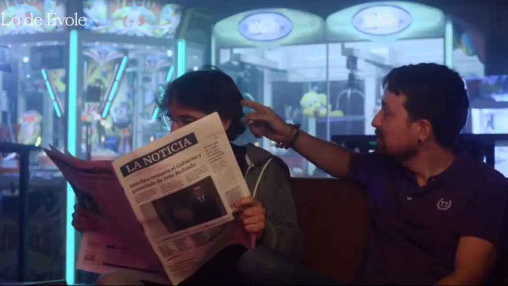 Jordi Évole y Pablo Iglesias en la promo de 'Lo de Évole'.