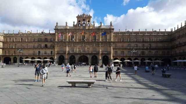 Plaza Mayor de Salamanca, en la fase 1