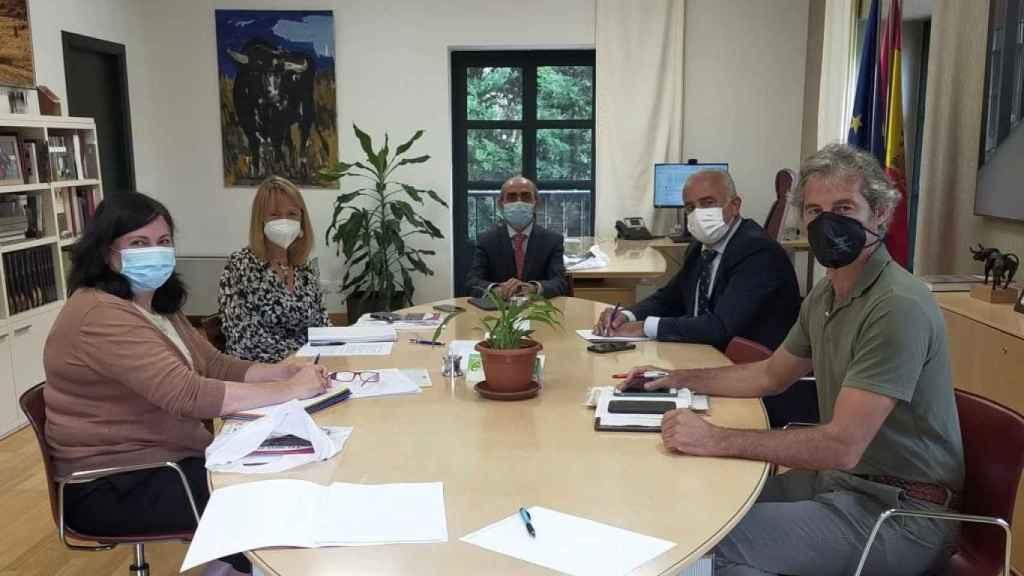 Reunión entre la Consejería de Cultura y Turismo de Castilla y León con la Diputación de Salamanca