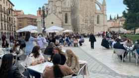 Terrazas en la zona centro de Valladolid