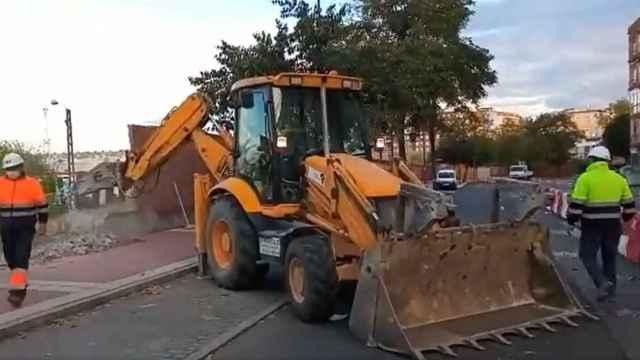 Inicio de las obras en la zona de la avenida de Segovia de Valladolid para los nuevos túneles de Labradores y Panaderos