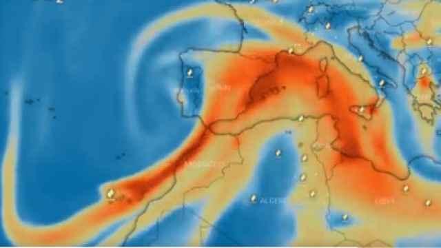 La nube de dióxido de azufre del volcán de La Palma llegará el jueves y se extenderá el viernes a toda la Península.