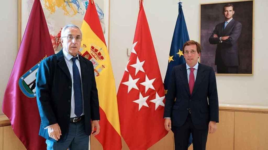 Alejandro Blanco, presidente del COE y Martínez Almeida, alcalde de Madrid