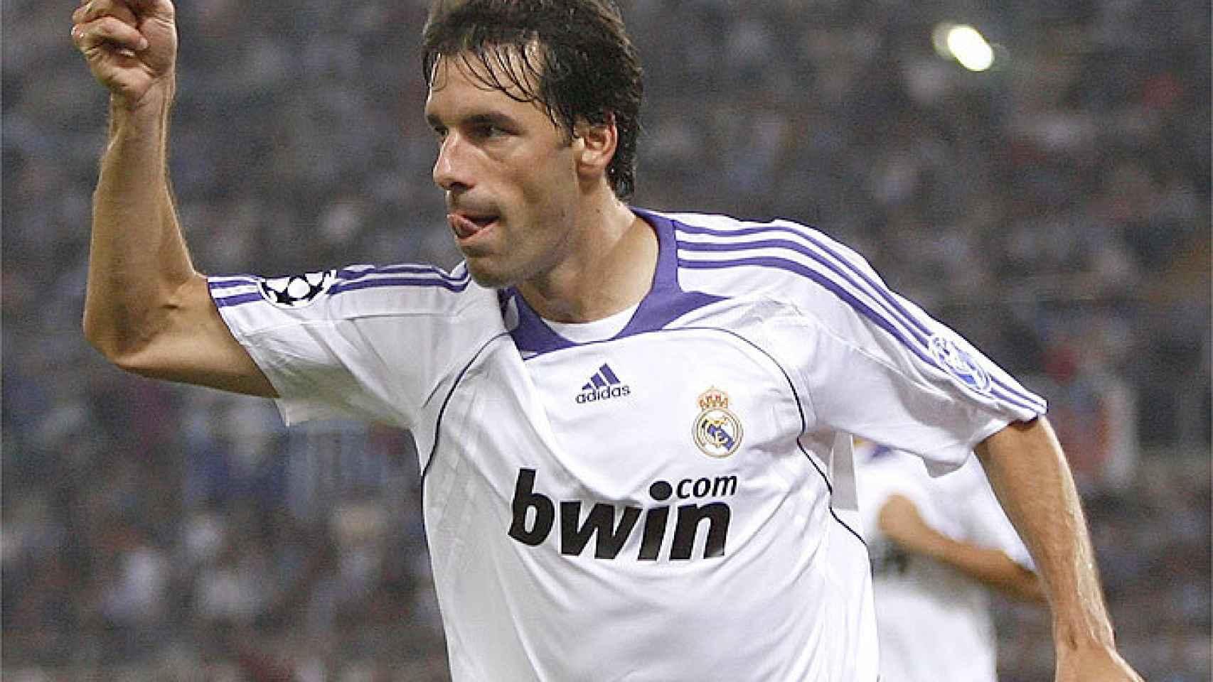Ruud Van Nistelrooy, en un partido del Real Madrid