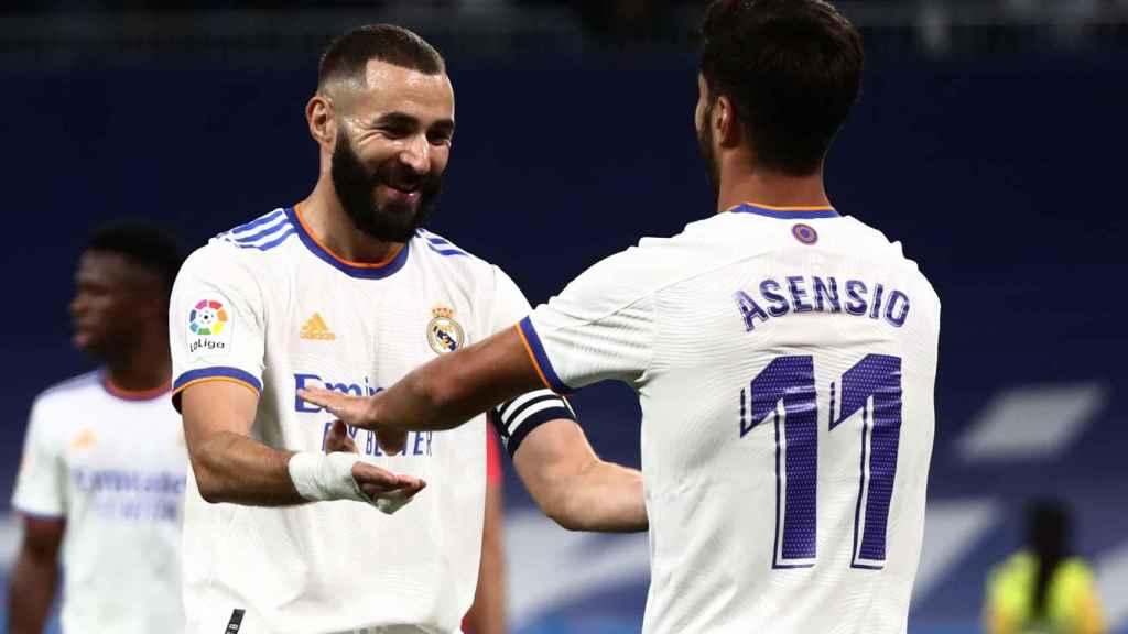 Karim Benzema y Marco Asensio