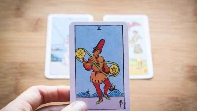 Juego del Tarot. Imagen de archivo