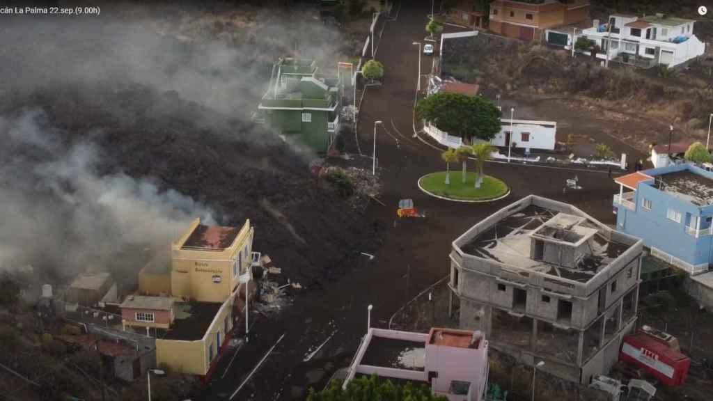 La lava entra en Todoque (La Palma).