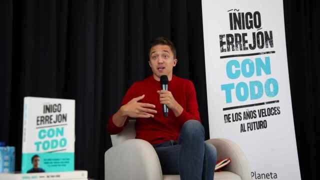 El líder de Más Madrid, Iñigo Errejón, en la presentación de su nuevo libro 'Con Todo'.
