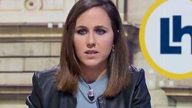 La ministra y líder de Podemos, Ione Belarra, entrevistada en TVE.