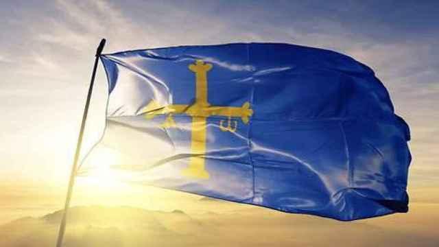 Bandera del Principado de Asturias. EP