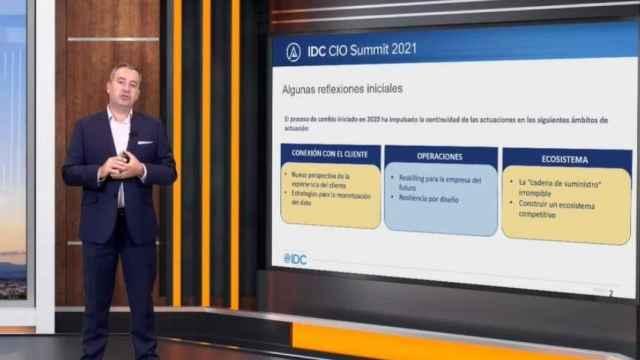 El director de Consultoría y Análisis de IDC Research España, José Antonio Cano, en CIO Summit 2021