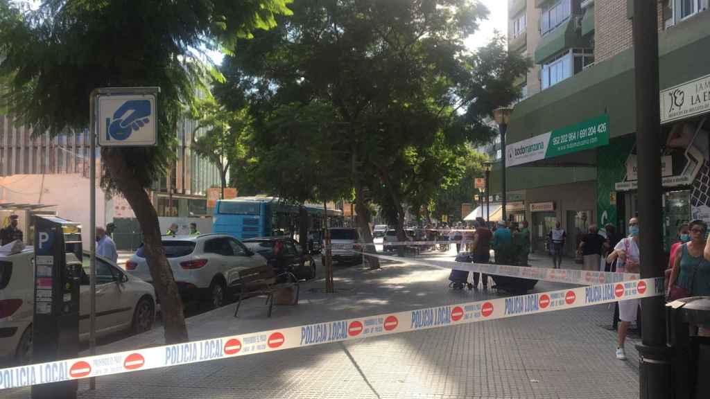 Una foto de la Avenida Juan Sebastián Elcano tras el atropello.