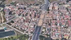 Vista del falso túnel de Carlos Haya, en Málaga capital.