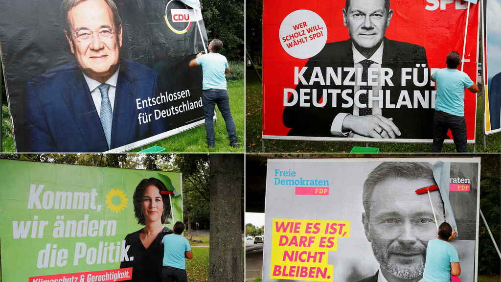 Los principales candidatos de Alemania: Armin Laschet (CDU), Olaf Scholz (SPD), Annalena Baerbock (Los Verdes) y Christian Lindner (FDP).