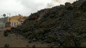 La colada de lava en Todoque