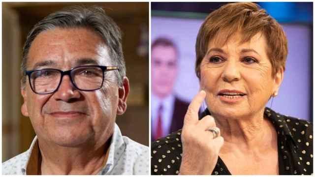 El alcalde de Almendralejo, José María Ramírez, y la exministra Celia Villalobos.