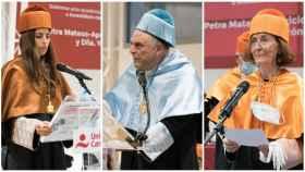 Verónica Pascual, Petra Mateos-Aparicio Y Miguel Ángel Garrido, investidos Doctores Honoris Causa.