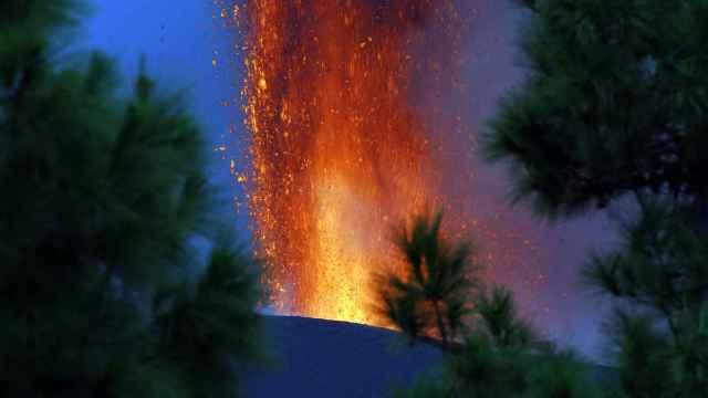 Volcán de Cumbre Vieja en La Palma. Efe