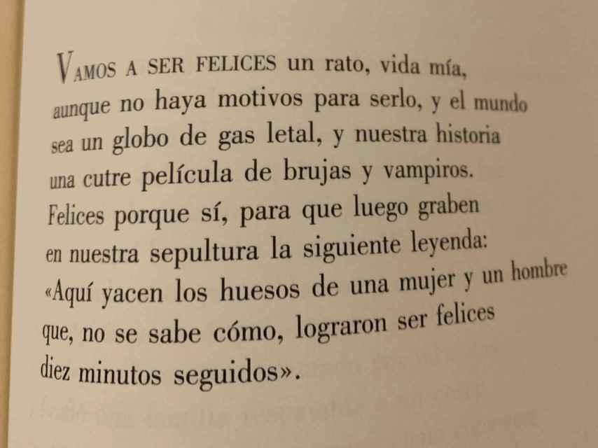 Vamos a ser felices, un poema de Luis Alberto de Cuenca.