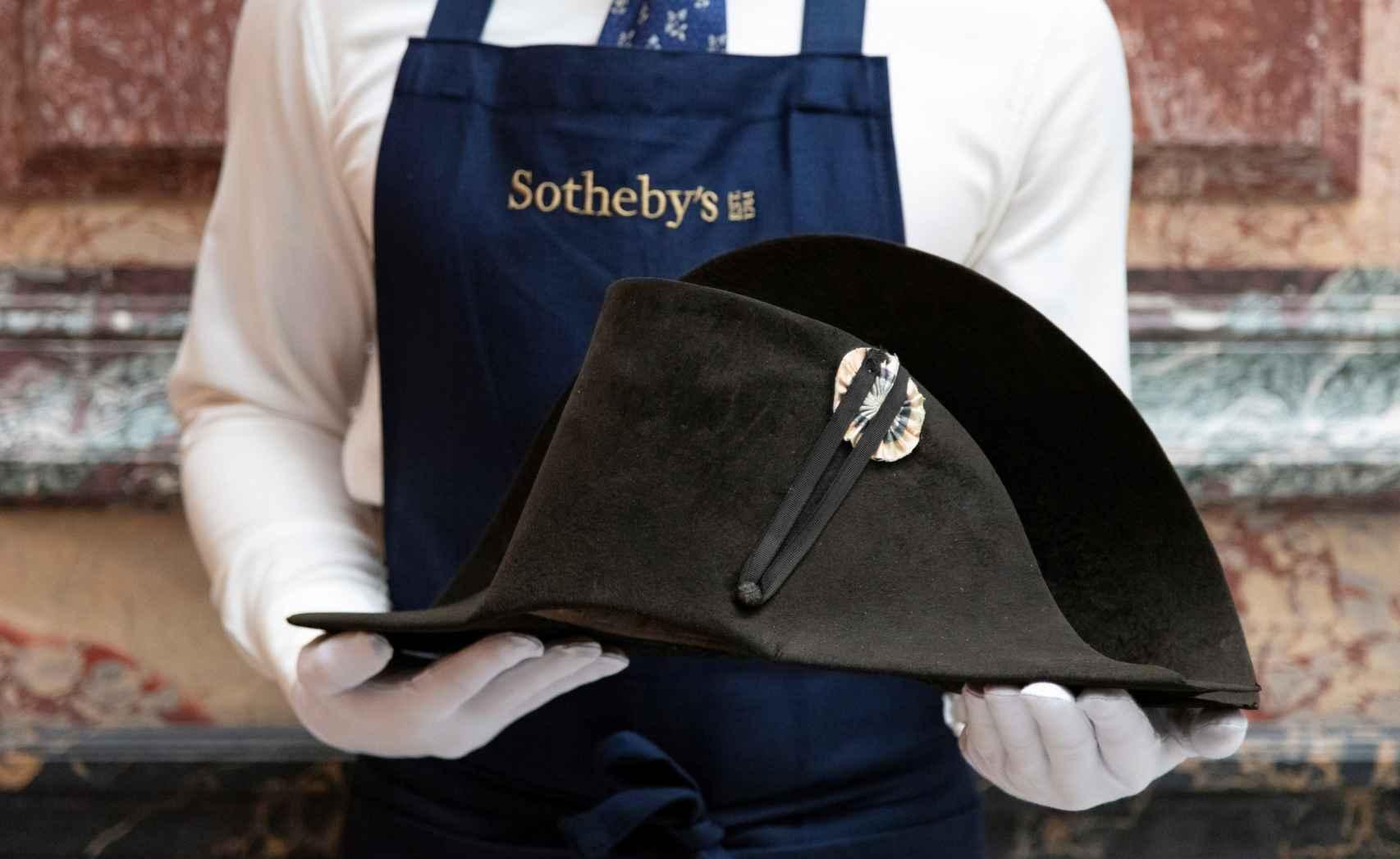 Otra imagen del sombrero de Napoleón.