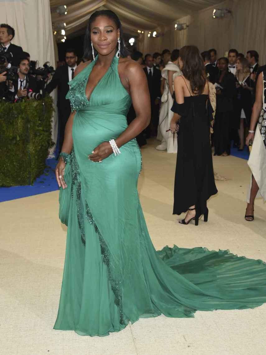 Serena Williams, embarazada de su hija.