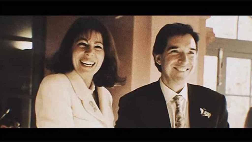 Gabilondo en su boda con Lola Carretero en 1993.