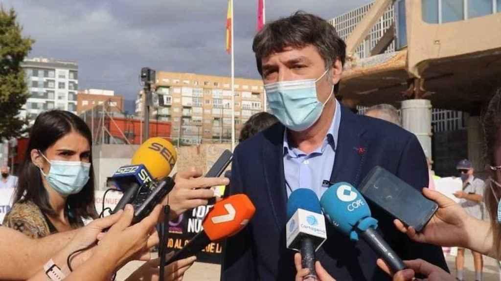 El diputado de Podemos Rafa Esteban, este martes, en la Asamblea Regional.