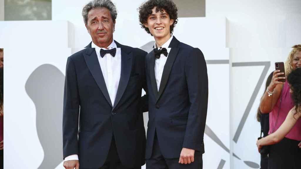 Con Filippo Scotti en el Festival de Venecia.