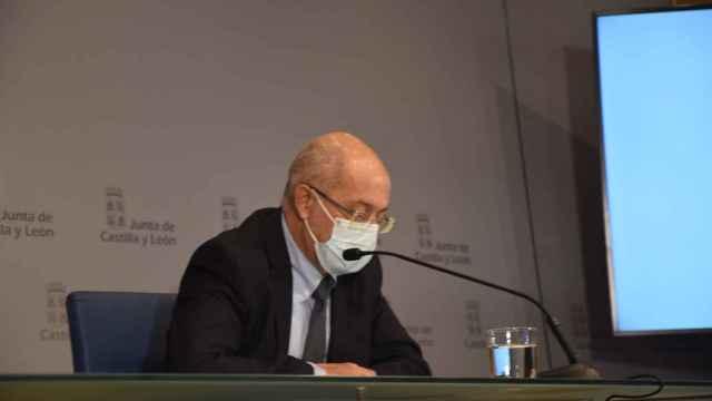 Francisco Igea durante la rueda de prensa
