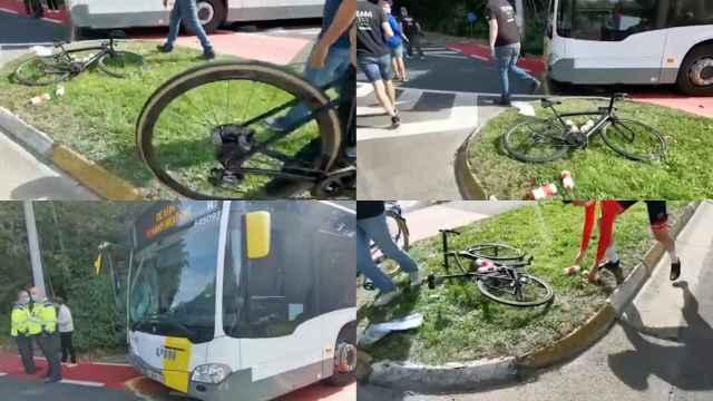 Las imágenes del accidente de un junior de Austria durante el Mundial de ciclismo