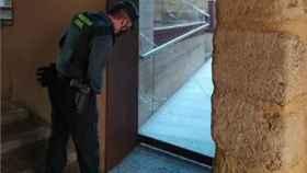 Estado en el que quedó la puerta del centro de interpretación de la muralla de Almazán. - SUBDELEGACIÓN DEL GOBIERNO
