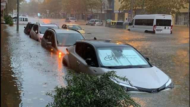 La DANA provoca graves inundaciones en Isla Cristina, Huelva. EP