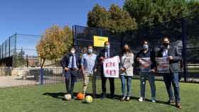 Foto del acto esta mañana entre la Fundación Eusebio Sacristán y el Ayuntamiento de Palencia