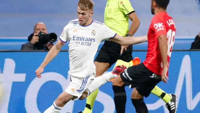 Sergio Santos, durante su debut con el Real Madrid