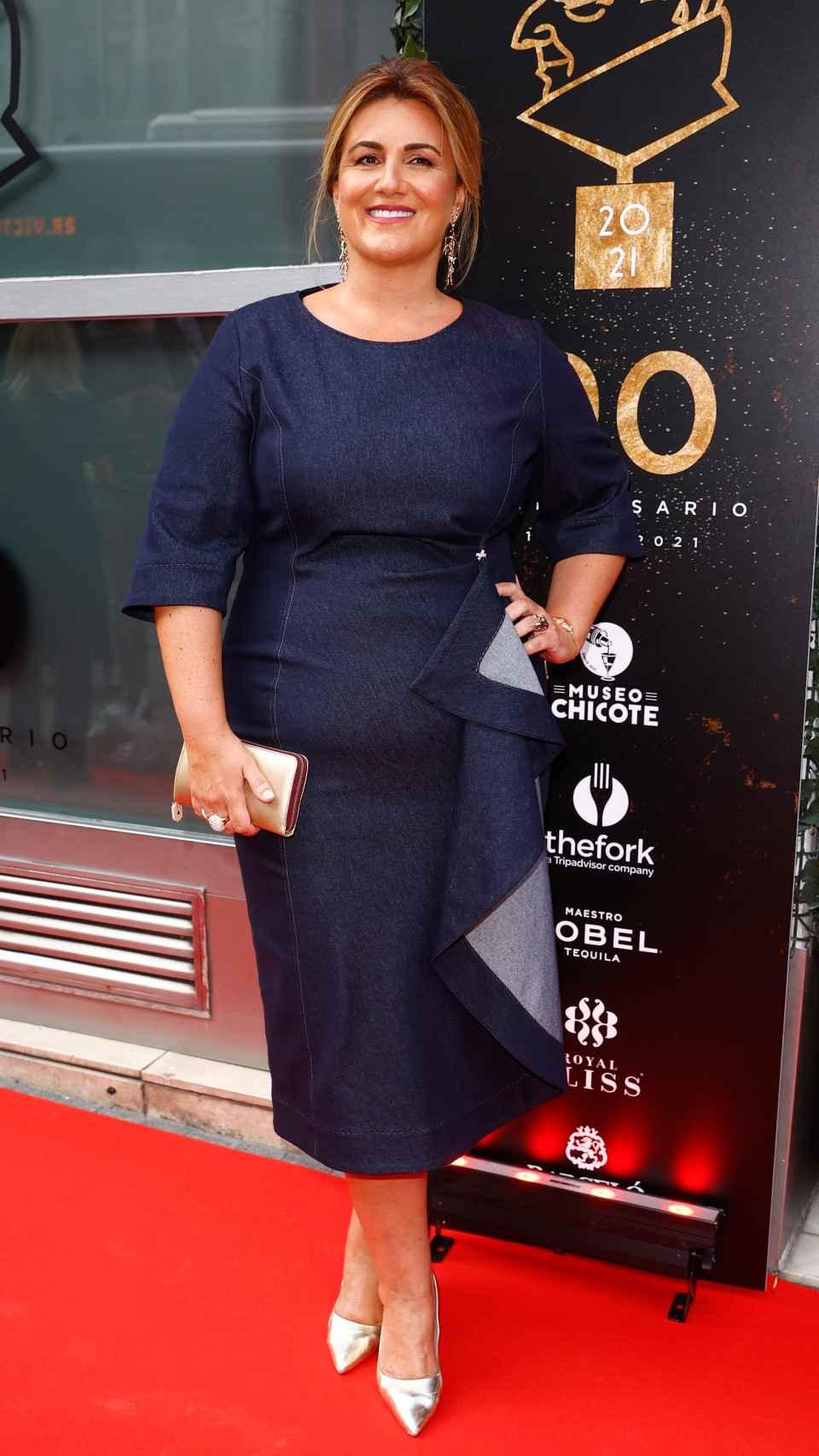 Carlota Corredera en la alfombra roja de los Premios Chicote.