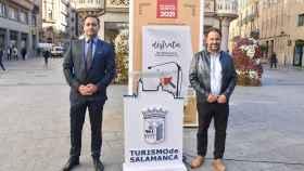 El presidente de la Asociación de Hostelería de Salamanca, Álvaro Juanes, y el concejal de Turismo, Fernando Castaño
