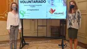 Las concejalas de Familia e Igualdad de Oportunidades, Ana Suárez, y de Participación Ciudadana, Almudena Parres