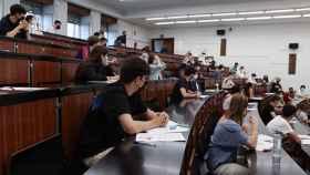 Estudiantes en un aula de la Universidad de Salamanca