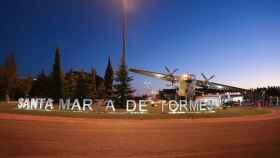 Glorieta de entrada a Santa Marta de Tormes