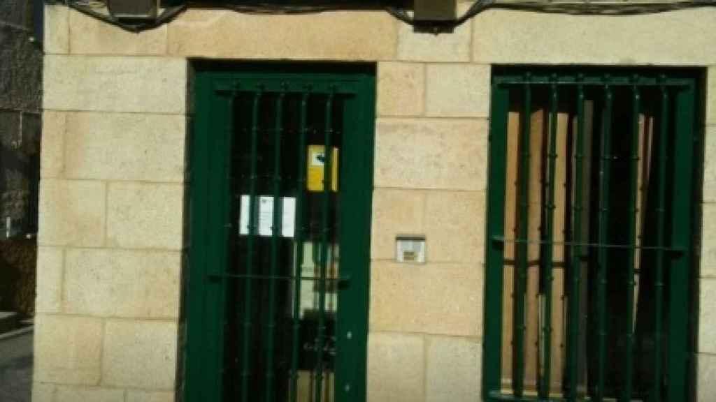 Oficina bancaria recientemente cerrada en Villarino de los Aires