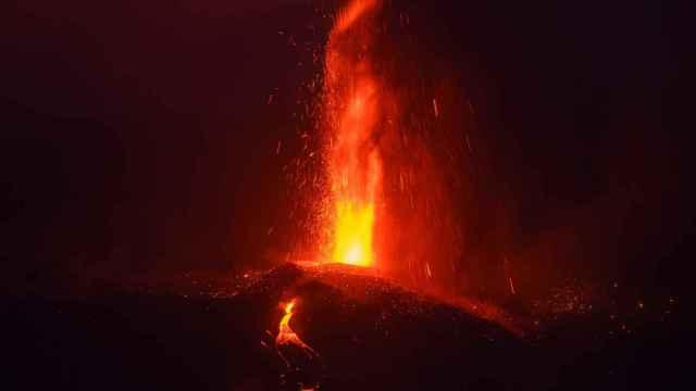 El volcán de Cumbre Vieja de La Palma. Efe