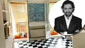 Antonio Pardo Sebastián y el salón de su antiguo estudio, en un montaje de Jaleos.