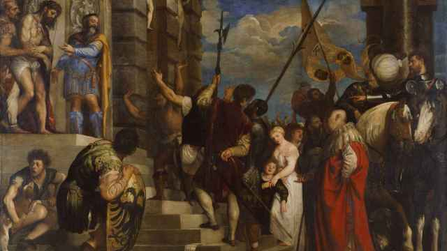 Este 'Ecce Homo' de Tiziano, de 1543, contiene un retrato de Pietro Arentino como Poncio Pilato.