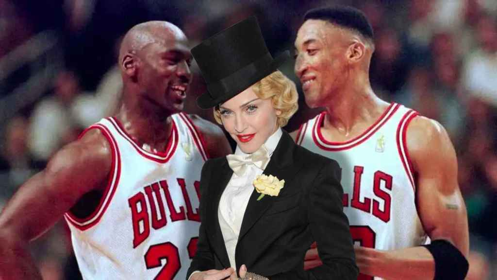 Michael Jordan, Madonna y Scottie Pippen