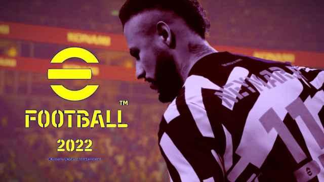 Neymar en eFootball 2022, en un fotomontaje