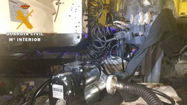 Robo de combustible. Foto: Guardia Civil